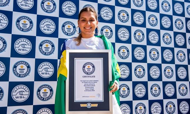 Maya e o certificado do Guinness Book