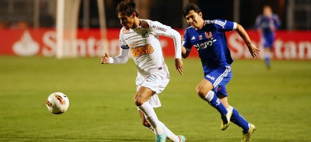 Neymar Santos x Universidad de Chile (Foto: Marcos Ribolli / Globoesporte.com)