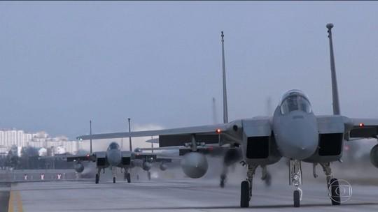 EUA e Coreia do Sul iniciam manobras aéreas conjuntas