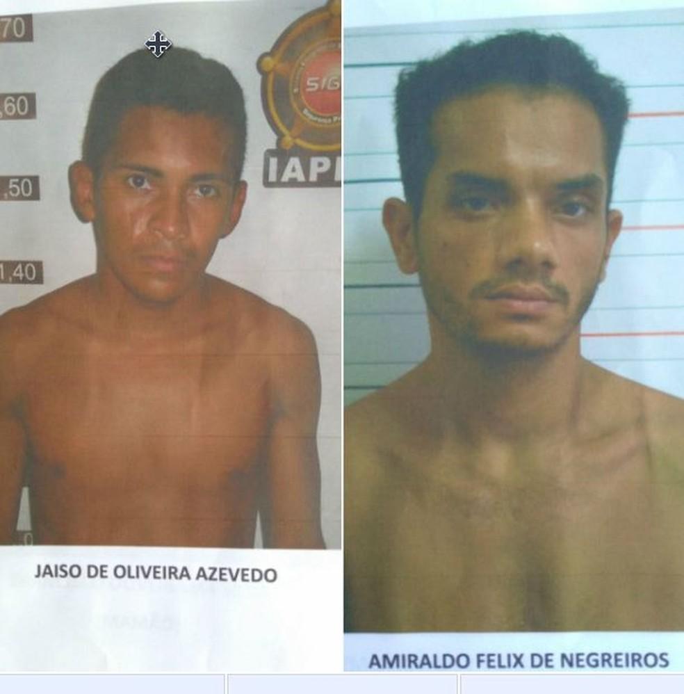Qualquer informação sobre os presos deve ser passada à polícia  (Foto: Divulgação/Iapen)