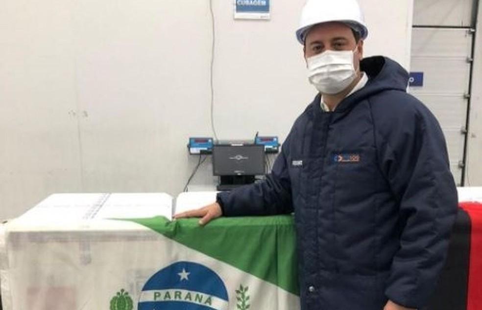 Governador Ratinho Júnior anunciou início da vacinação contra a Covid-19 no Paraná para esta segunda-feira (18) — Foto: Reprodução/Instagram