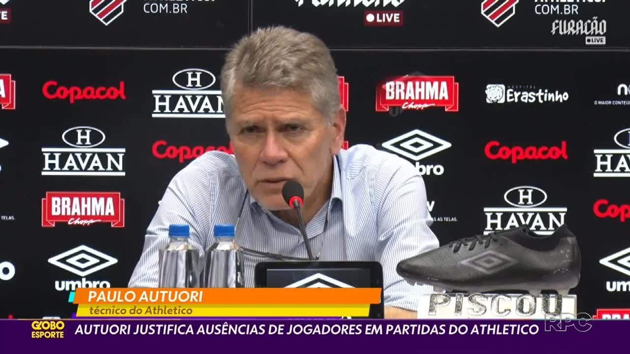 Autuori justifica ausência de jogadores contratados para serem titulares no Athletico