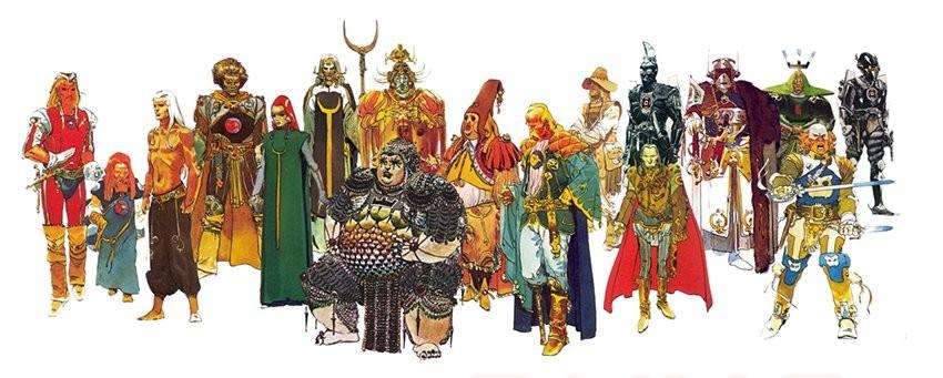 Arte conceitual de Moebius, mestre das histórias em quadrinhos, com os personagens de Duna para a adaptação original de Alejandro Jodowosky (Foto: Reprodução)