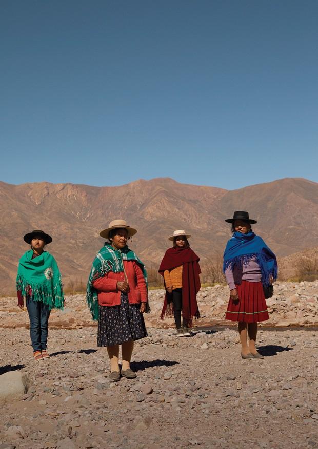 Celeste Valero, Edilberta Pica, Noemi Valero e Lucrecia Cruz, agricultoras e artesãs de Puna e da Quebrada de Humahuaca, em Jujuy, no norte da Argentina (Foto: Cecília Duarte)