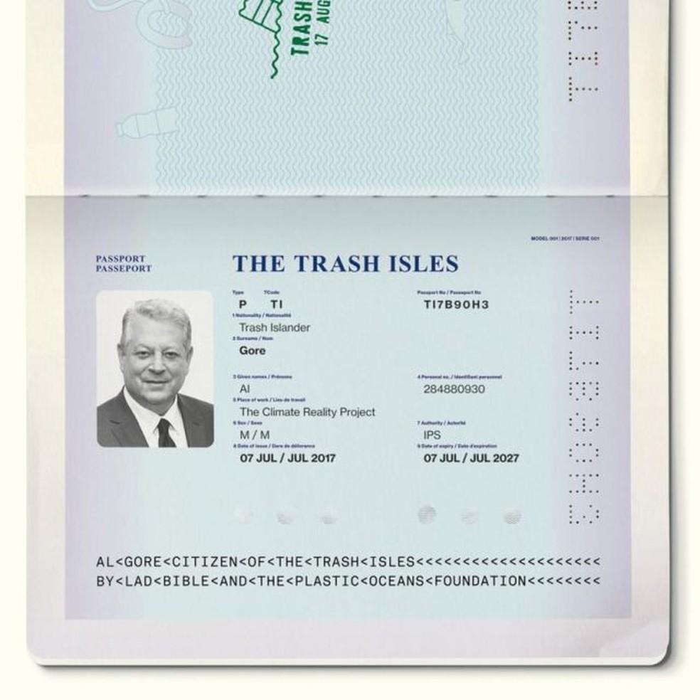 O passaporte de Al Gore da