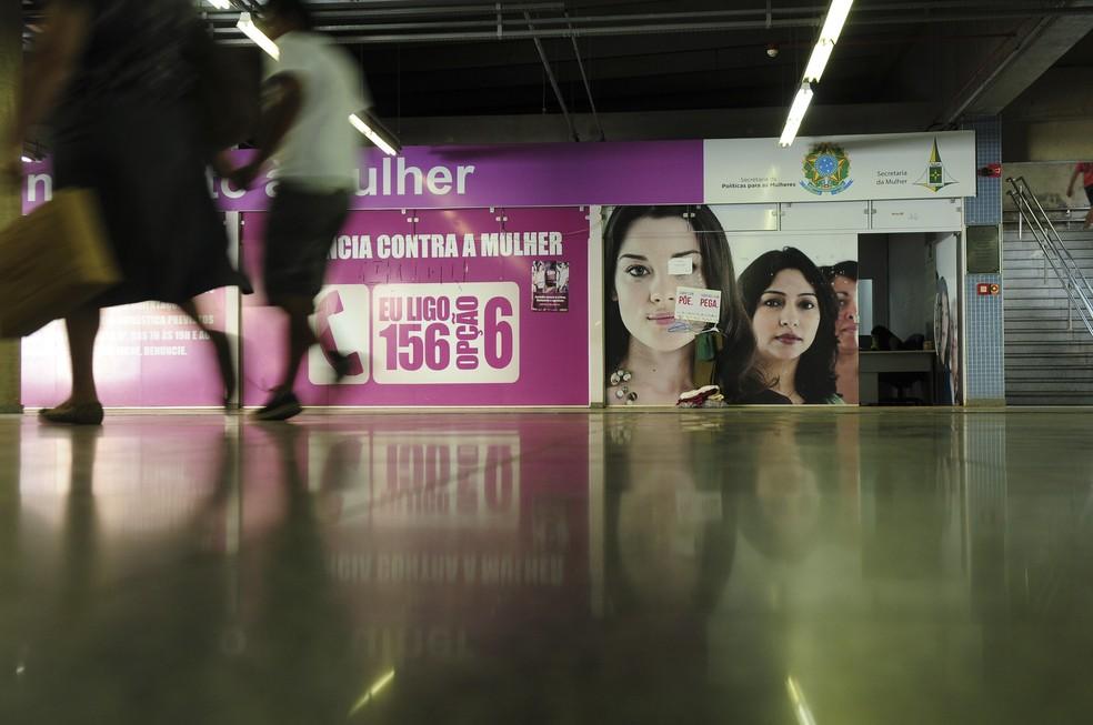 Centro Especializado de Atendimento à Mulher (Ceam) na Estação 102 Sul, em Brasília   — Foto:  Pedro Ventura/Agência Brasília.