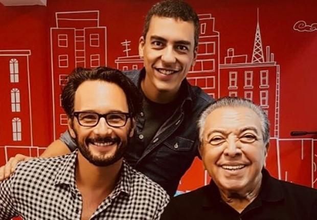 Rodrigo Santoro, Daniel Rezende e Mauricio de Sousa (Foto: Reprodução/Instagram)