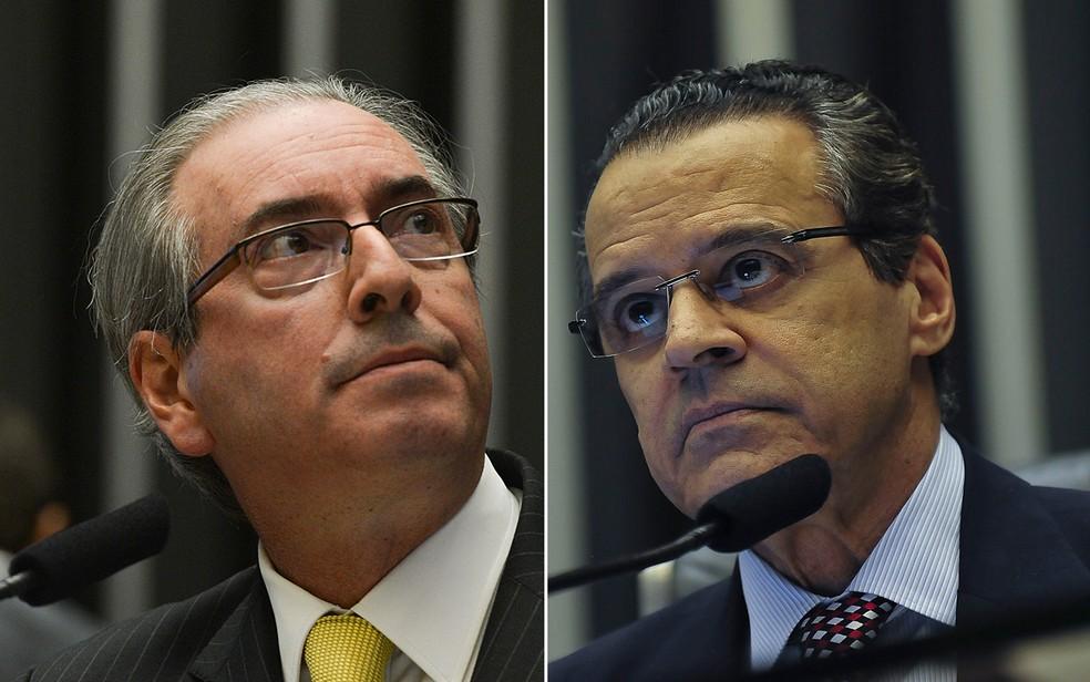 Os peemedebistas Eduardo Cunha e Henrique Eduardo Alves (Foto: Fabio Rodrigues Pozzebom/Agência Brasil e José Cruz/Agência Brasil)
