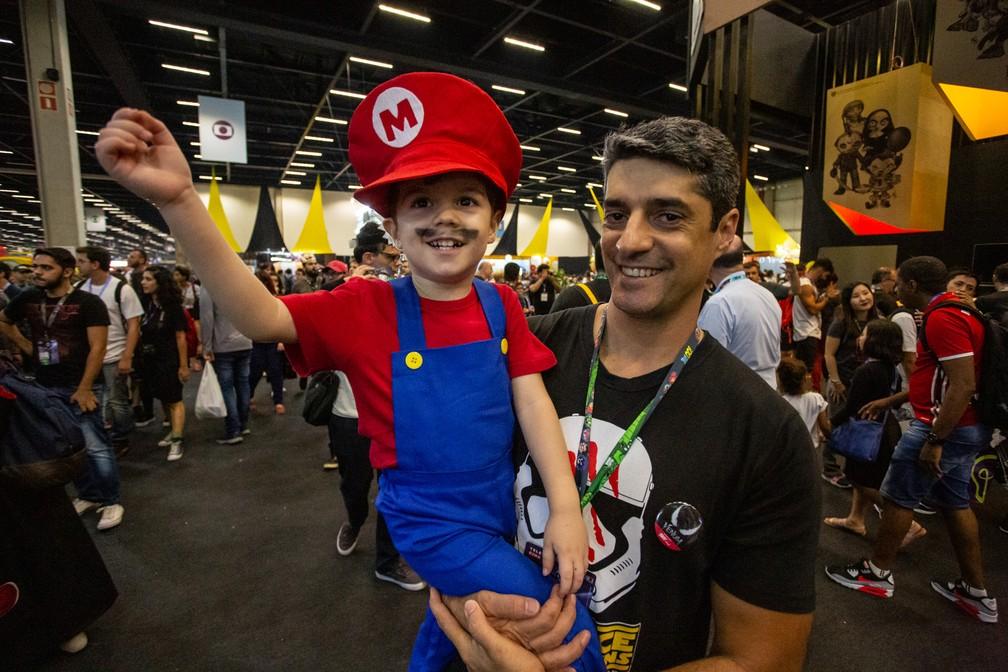 Pequeno Mario na CCXP 2018 — Foto: Fabio Tito / G1