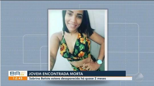 Jovem de 20 anos que sumiu há quase dois meses após sair de casa para ver filho é achada morta na Bahia