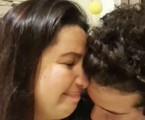 Mariana Xavier se emociona em live com o namorado, Diego Braga | Reprodução