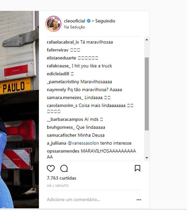 Chuva de elogios para o clique de Cleo Pires (Foto: Reprodução/Instagram)