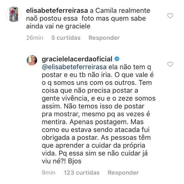 Desabafo de Graciele em post (Foto: Reprodução/Instagram)