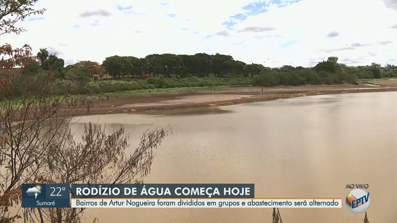 Artur Nogueira tem 1º dia de rodízio de água neste sábado com corte em 15 áreas
