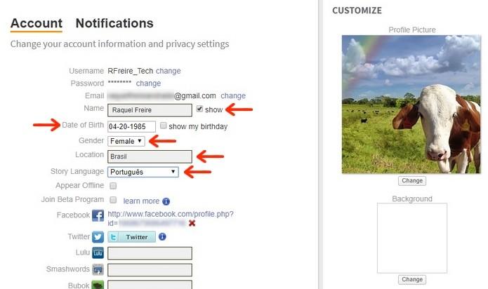 Como alterar dados de perfil no Wattpad | E-books e cultura