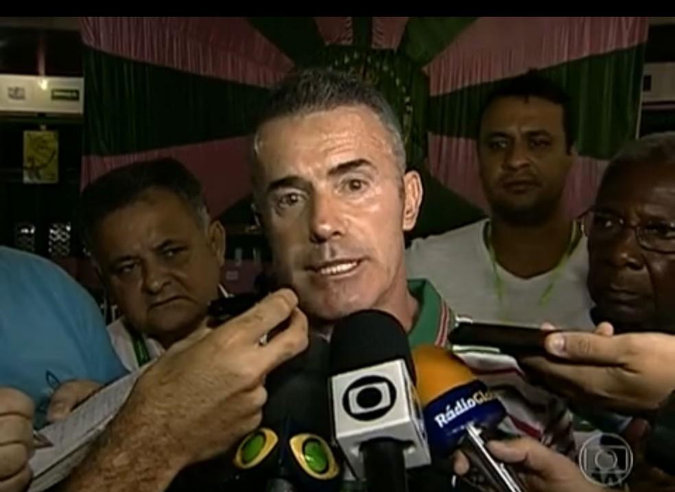 O deputado estadual e presidente de escola de samba Chiquinho da Mangueira — Foto: Reprodução/ TV Globo