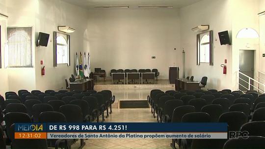 Vereadores de Santo Antônio da Platina propõem reajustar salários e aumentar número de parlamentares