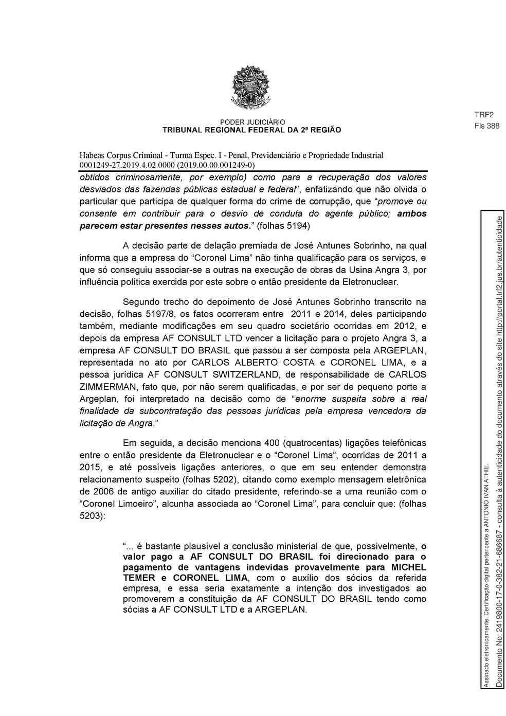 Decisão TRF 2 - pg 7 — Foto: Reprodução