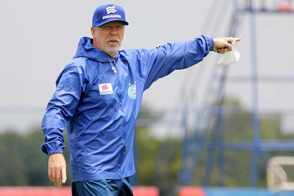 Mano Menezes, técnico do Bahia — Foto: Felipe Oliveira / Divulgação / EC Bahia