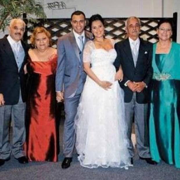 Casamento de Luciele di Camargo e Denilson (Foto: Reprodução/Instagram)