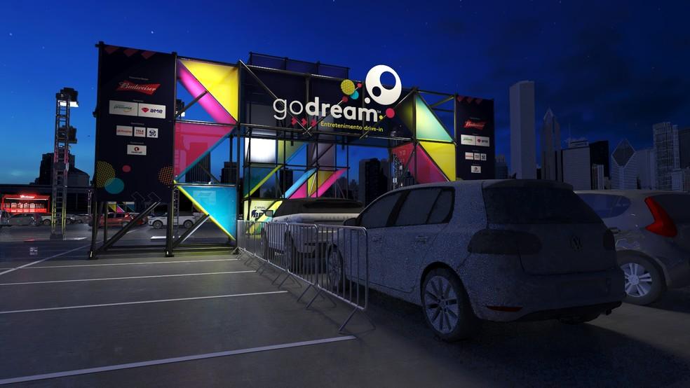 Cinema drive-in começa a funcionar no Recife — Foto: Go Dream/Divulgação