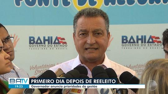 Governador reeleito Rui Costa fala sobre planos para os próximos quatro anos de mandato