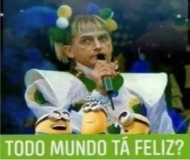 Montagem do presidente Bolsonaro no corpo da Xuxa