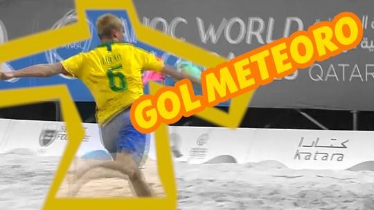 Lucão acerta chute improvável de muito longe nos Jogos Mundiais de Praia