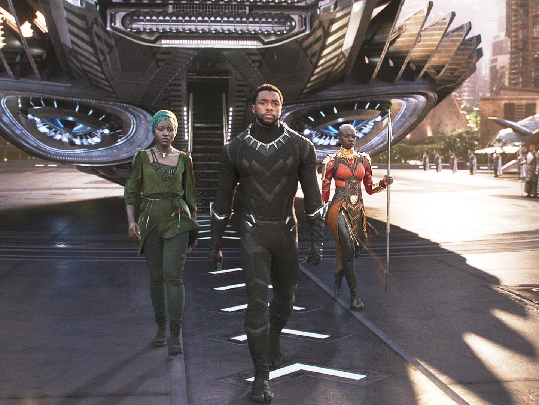 Elenco de Pantera Negra em ação (Foto: Divulgação)