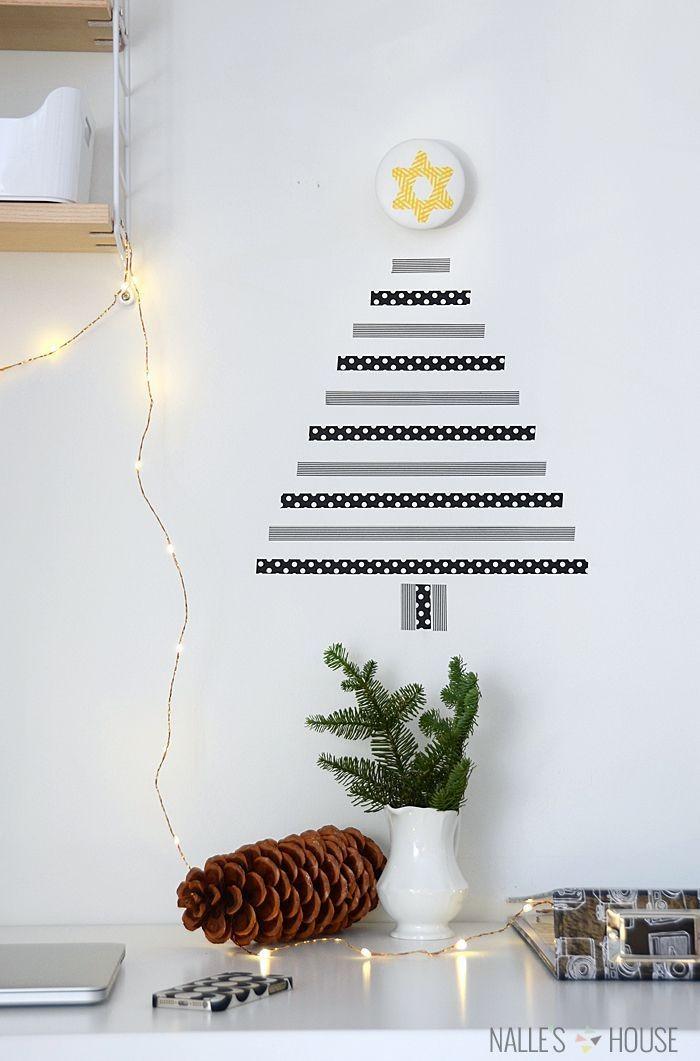 Árvore de Natal diferente (Foto: Reprodução Pinterest)