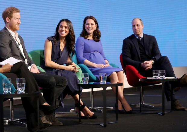 LONDON, ENGLAND - FEBRUARY 28:  Prince Harry, Meghan Markle, Catherine, Duchess of Cambridge and Prince William, Duke of Cambridge attend the first annual Royal Foundation Forum held at Aviva on February 28, 2018 in London, England. Under the theme 'Makin (Foto: Getty Images)
