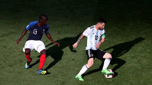 Kanté marca Messi em França x Argentina na Arena Kazan