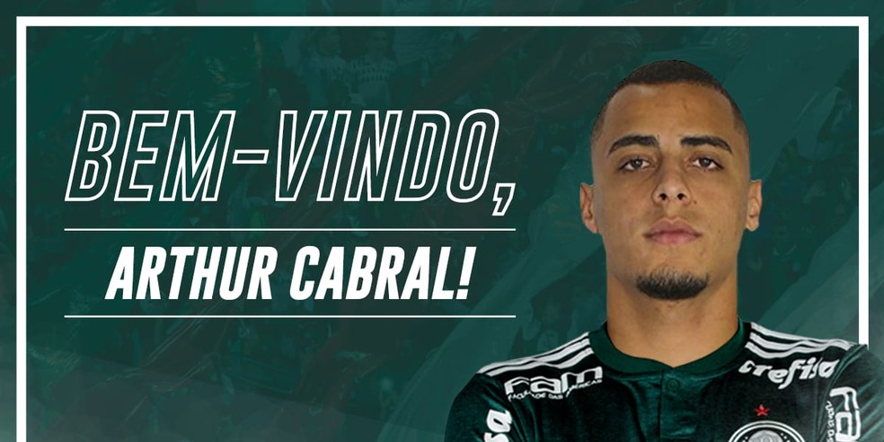 Arthur Cabral, ex-Ceará, e Zé Rafael, ex-Bahia, foram os dois primeiros reforços anunciados pelo Palmeiras para 2019 — Foto: Reprodução