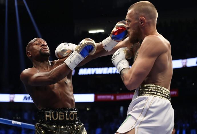 Floyd Mayweather x Conor McGregor na luta do ano em Las Vegas May-Mac (Foto: Getty Images)