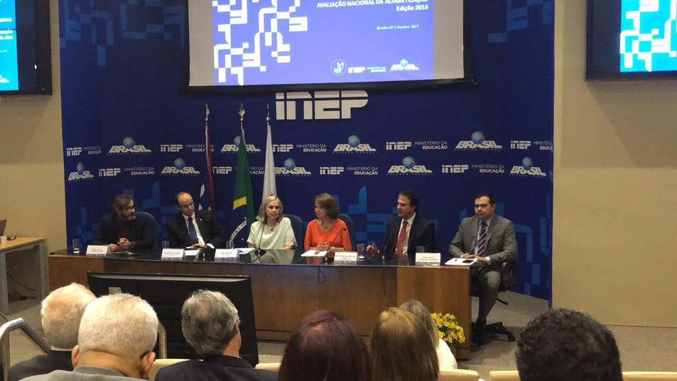 Apresentação de dados ANA 2016 nesta quarta-feira em Brasília  (Foto: MEC/Divulgação)