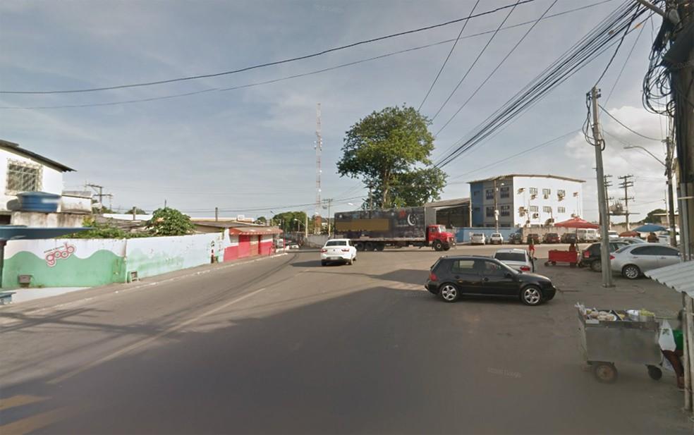 Rua da Matriz, em Valéria — Foto: Google Street View
