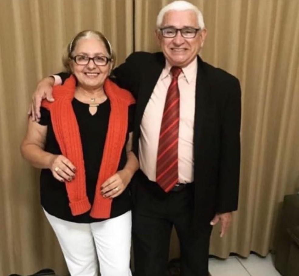 Francisca Vieira Lima e José Ariston Nogueira de Lima, vítimas da Covid-19, no DF — Foto: Arquivo pessoal