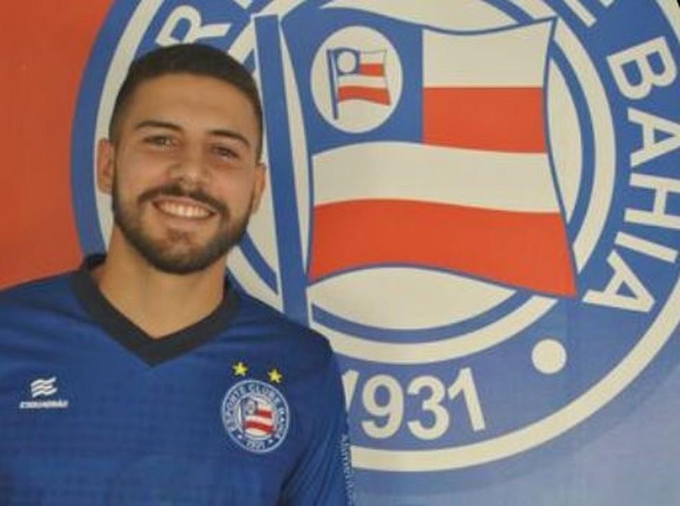 Lucas Rodrigues é o novo reforço do Bahia para a disputa do Campeonato Baiano — Foto: Divulgação / EC Bahia