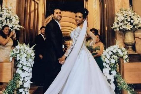 Denis e Thelma em seu casamento, em 2016 (Foto: Reprodução)