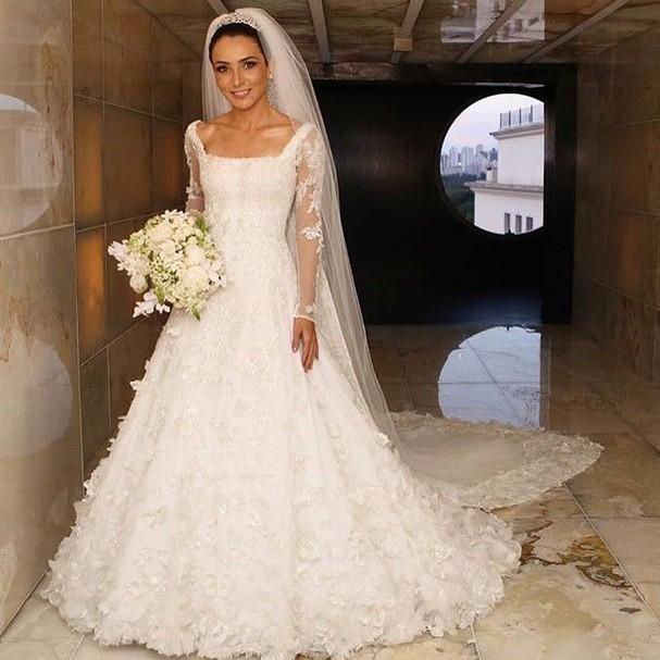 Vestidos de noivas das influencers (Foto: Reprodução)