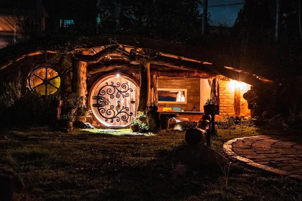 Família constrói 'casa de Hobbit' com materiais reaproveitados no interior de SP — Foto: Arquivo Pessoal