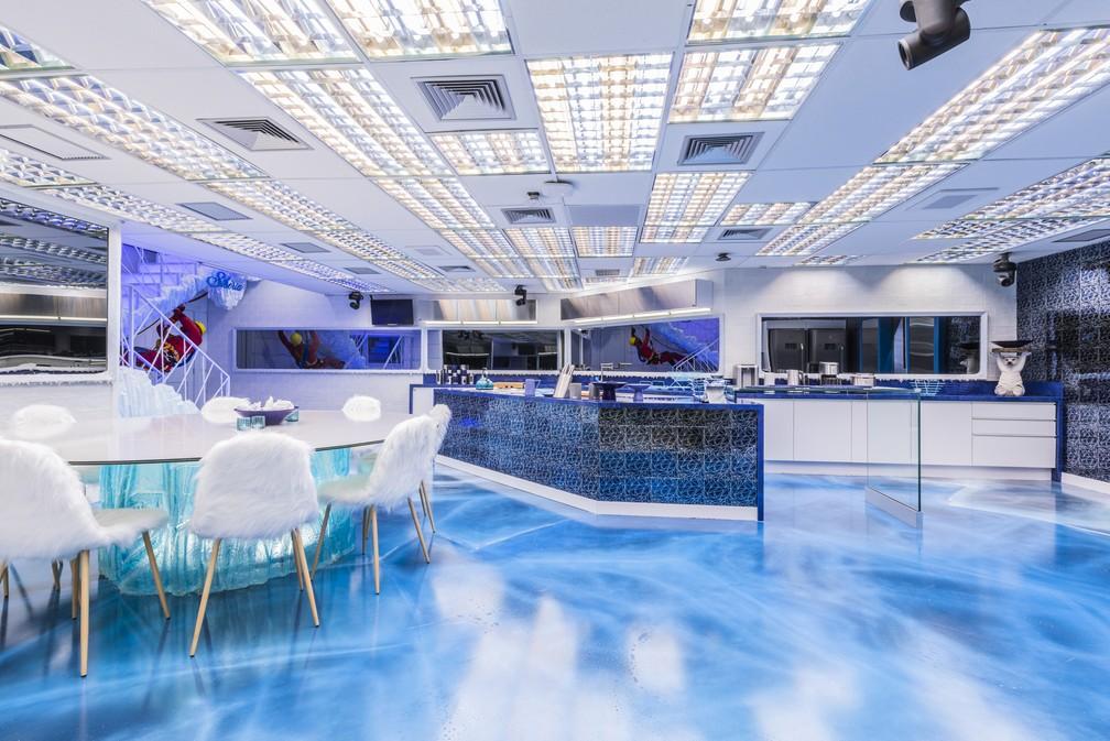 """Cozinha Sibéria do """"BBB 20"""" é releitura do """"BBB 14"""" — Foto: Cozinha Sibéria BBB 20"""