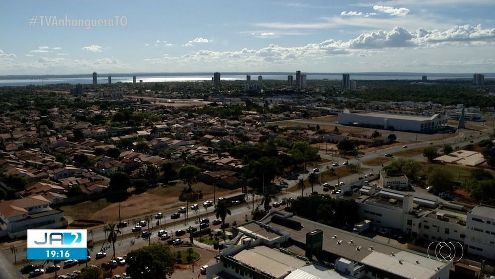 Vista geral de Palmas — Foto: Reprodução/TV Anhanguera