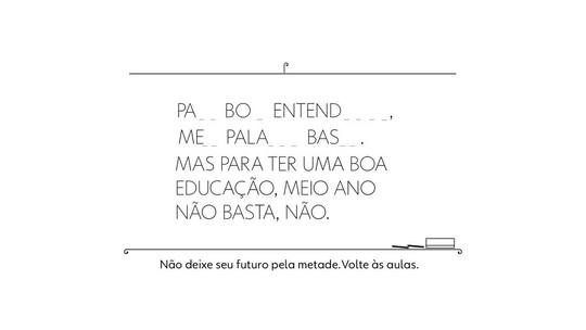 Globo Educação lança campanha 'Volta às Aulas'