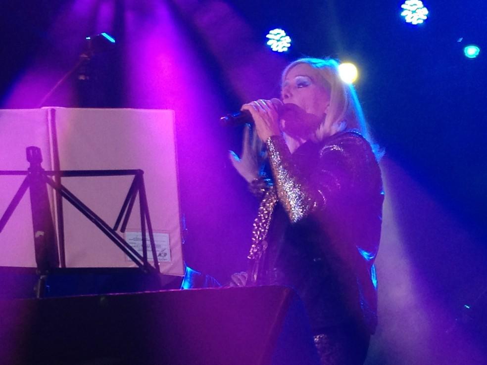 -  A cantora Vanusa em show durante a Virada Cultural apresentou novas canções gravadas com Zeca Baleiro  Foto: Amanda Previdelli/G1