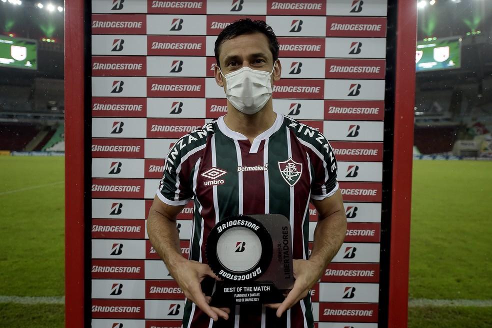 Fred é eleito o melhor jogador da partida — Foto: Staff Images / CONMEBOL