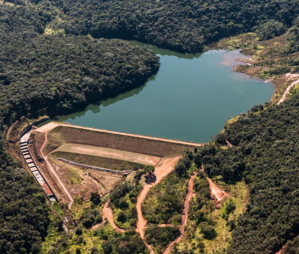Barragem Menezes II - Mina Córrego do Feijão — Foto: Reprodução