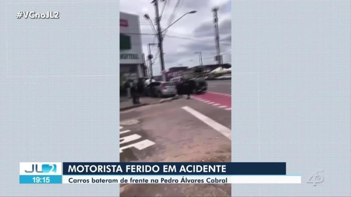 Uma pessoa fica ferida em acidente na avenida Pedro Alvares Cabral, em Belém