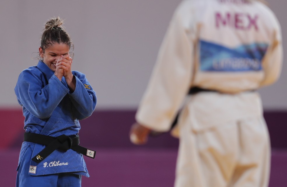 Larissa Pimenta na final do judô no Pan de Lima 2019 — Foto:  REUTERS/Guadalupe Pardo