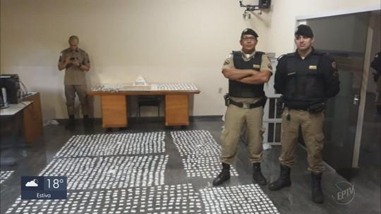 Doze tabletes de maconha e mais de 4 mil papelotes de cocaína são apreendidos em Campo Belo, MG